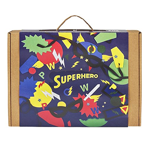 [JackInTheBox Superhero 3-In-1 Craft Kit For Boys: Gift For 5 Years And Up: Contains A Superhero Cape, Mask, And] (Make Your Own Superhero Costume)