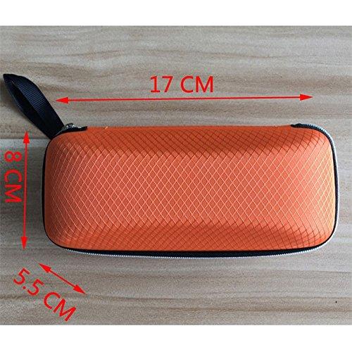 Westeng EVA Brillenetui Sonnenbrille Schutzh/ülle Mit Rei/ßverschluss Stoffhaken Kleine Netzmuster Blau Packung mit 1
