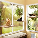 sea-junop Indoor Window Pet Kitty Seat Bed Cat Window Perch with Suction Cups