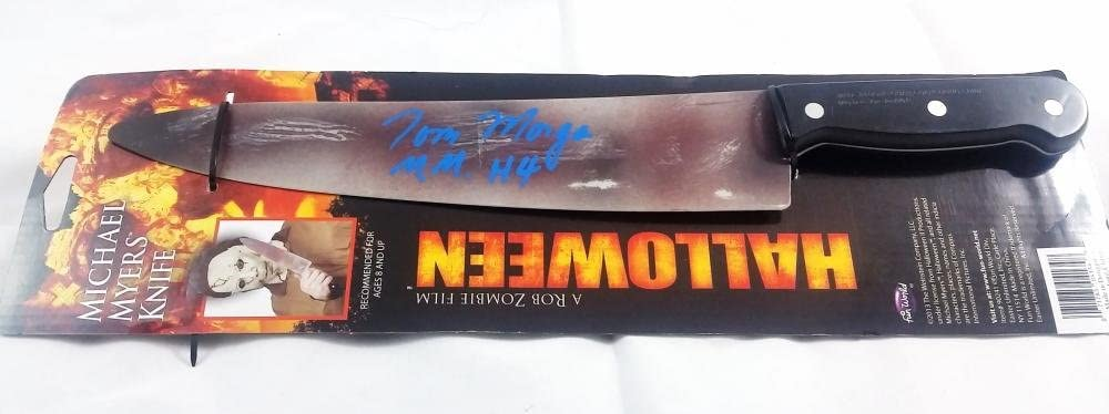 """TOM MORGA SIGNED """"MICHAEL MYERS"""" HALLOWEEN PROP KNIFE ROB ZOMBIE PROOF J1"""