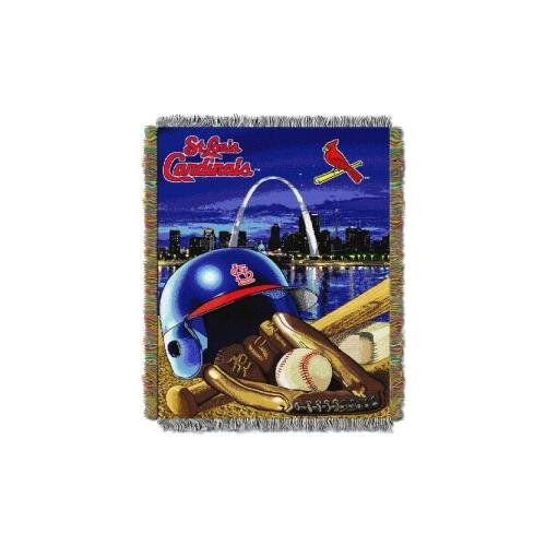 MLB St. Louis Cardinals Home Field Advantage Woven Tapestry Throw, 48
