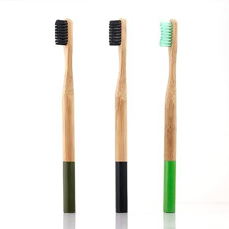 aushen carbón cepillo de dientes cepillo de dientes de bambú ...