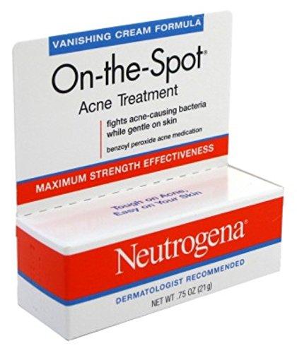Neutrogena On-The-Spot Acne Spot Treatment with 2.5% Benzoyl Peroxide Acne Treatment Medicine to Treat Face Acne, Gentle Benzoyl Peroxide Pimple Gel for Acne Prone Skin.75 oz (Pack of 2)