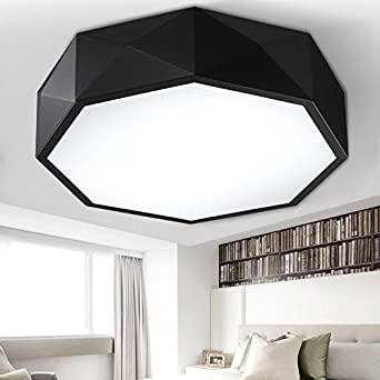 Originality Geometry Ceiling Lamp LED Personality Art Bedroom Lighting Simple Nordic Study