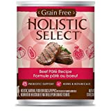 Holistic Select Grain Free Beef Can Dog Food, Large