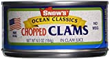 Snow's Ocean Classics Chopped Clams, 6.5 Oz (Pack of 4)