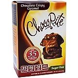 CHOCORITE CHOCOLATE VALUE PACK -6 24 GRAM BARS-SUGAR FREE-35 CALORIES PER PIECE (CHOCOLATE CRISPY CARAMEL)