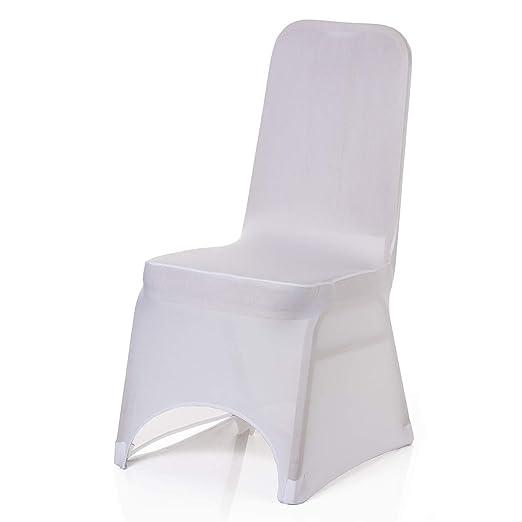 Spandex Lycra blanco cubierta de la silla cubre Boda Fiesta Banquete aniversario