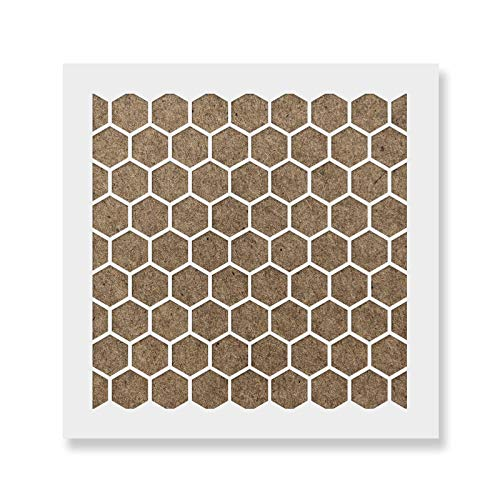 Honeycomb Cookie Stencil Template - Reusable & Durable Food Safe Stencils for Cookies and Baking ()