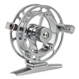 HIMENLENS Mini Ice Fishing Reel All Metal Raft Wheel Ice Reel(HX-60R)