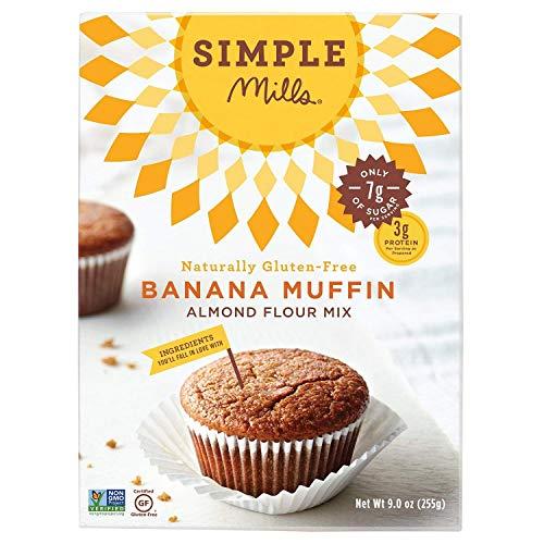 Almond Flour Muffins - Simple Mills Almond Flour, Paleo Banana Muffin Mix, 9 Ounce (2 Pack)