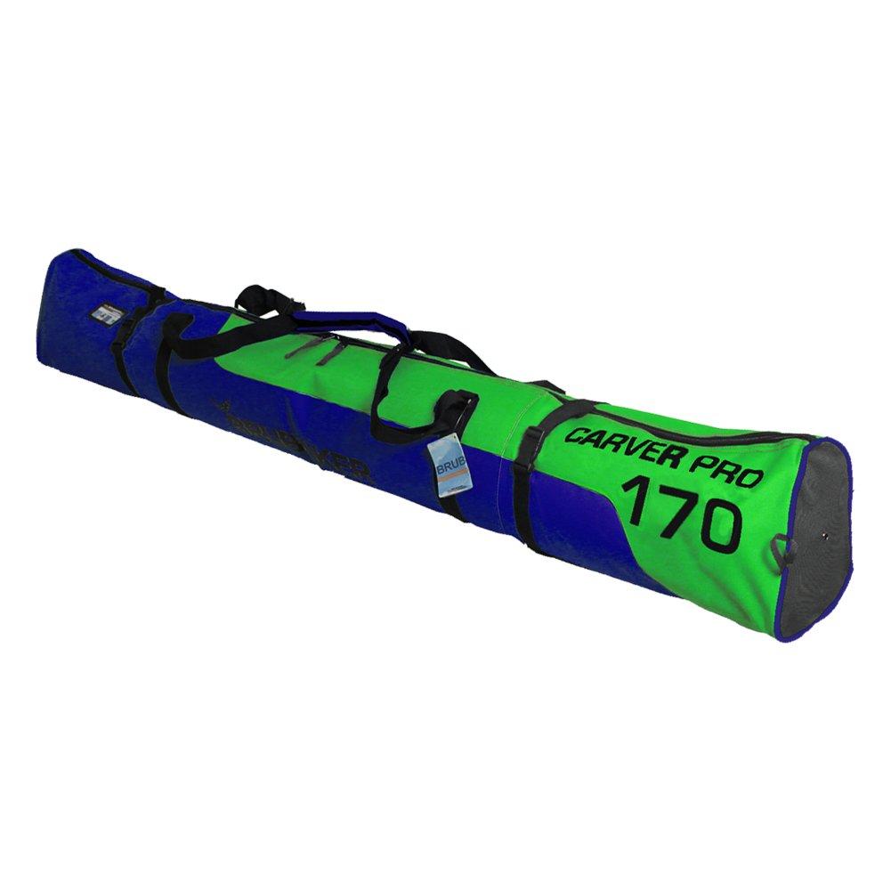 Brubaker Carver Pro 2.0 gepolsterte Skitasche mit Zipperverschluss Grün/Blau 170 cm