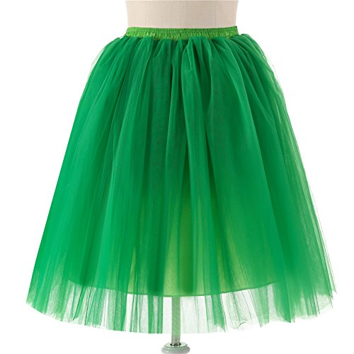 principessa Tutu Vestito Gonna Puffy a da Gonna Elastico Stile Pieghe Garza dell'annata Tutu Tulle Petticoat Donna Verde Gonne Rockabilly in Balletti Tulle Danza Retro Gonna WR1gpFqF