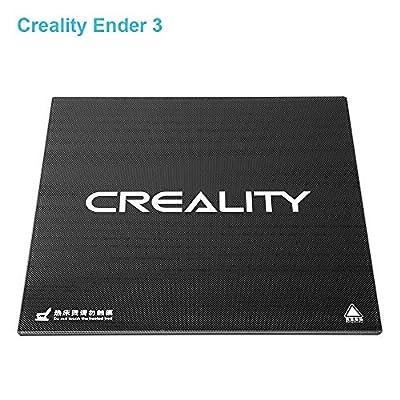 Ender 3 Creality 3D Printer Platform Tempered Glass Upgraded Heated Bed Build Plate Surface 235x235x3mm for Ender 3/ Ender 3 Pro/Ender 5