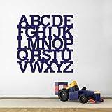 Alphabet Children Playroom Vinyl Wall Decal Home Decor Alphabet Kids Room Vinyl Lettering (black,s)