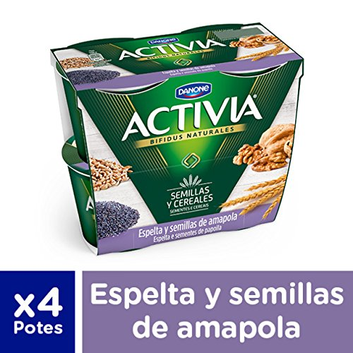 Activia Espelta Semillas de Amapola - Paquete de 4 x 120 gr - Total: 480 gr: Amazon.es: Alimentación y bebidas