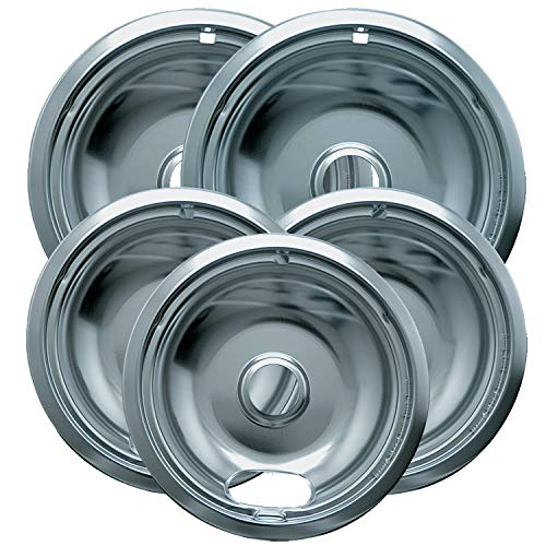 - Range Kleen 12565X Style A 5 Pack Chrome Plated Drip Bowls 3 Small and 2 Large