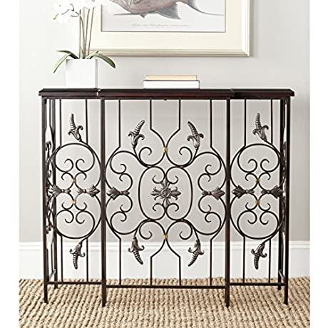 Safavieh American Home Collection Courtney Dark Brown Console Table