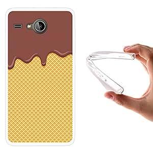 WoowCase - Funda Gel Flexible { Acer Liquid Z520 } Chocolate Negro y Oblea Carcasa Case Silicona TPU Suave