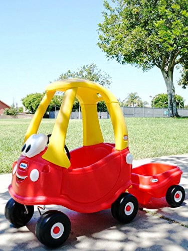 cozy coupe car with pull behind trailer hitch kids ride on import it all. Black Bedroom Furniture Sets. Home Design Ideas
