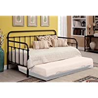1PerfectChoice Claremont Powder Coated Platform Daybed Day Bed Metal Dark Bronze Option