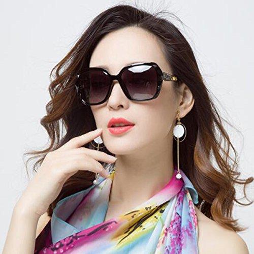 c260de0a60 LQQAZY Polarizado Gafas De Sol Mujeres Marea Caja Grande Cara Redonda Gafas  De Sol Cara Larga
