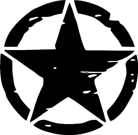 Online Design 32 Star Stickers Car Bike Decal Solid Black ...