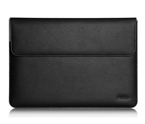 "ProCase Surface Laptop 2017 / Surface Book Macbook Pro 13 Case Sleeve, Protective Sleeve Cover for 13 Inch Macbook Pro 2016 / Pro Retina / Macbook Air 13.3"" / Surface Book Tablet Laptop -Black"