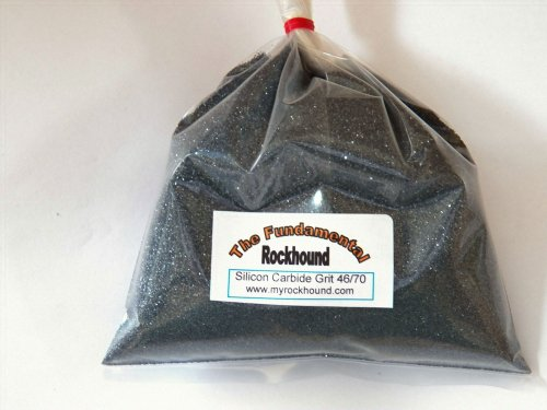 Fundamental Rockhound Products: 2 lb 46/70 Extra Coarse GRIT for rock tumbling polishing Silicon Carbide