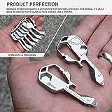 Geekey Multi-tool | Stainless Steel Key Shaped