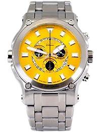 Men's Calibre Robusta Swiss Chronograph 50pcs SS Yellow Dial