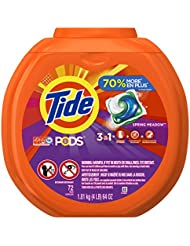 Tide PODS 3 in 1 HE Turbo Laundry Detergent Pacs, Spring Meadow Scent, 72 Count Tub (Packaging May Vary)
