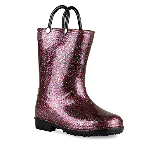 Price comparison product image Chillipop Rainboots for Girls & Toddlers with Glitter Design & Pull Handles