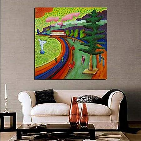 YuanMinglu Pintor Wallpaper Lienzo Imagen Sala de Estar decoración del hogar Moderno Arte de la Pared Pintura al óleo póster Cuadro sin Marco Pintura 75x75cm