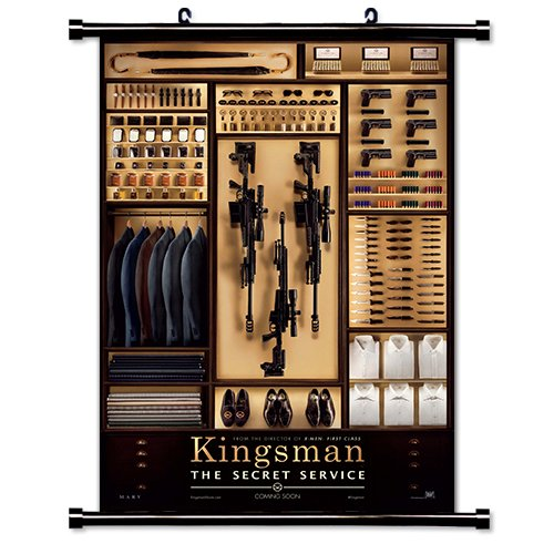 Kingsman The Secret Service Movie Fabric Wall Scroll Poster