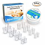 Anti Snoring Sets of 8 Stop Snoring Nose Vents Help Ease Breathing And Snoring Different Size Snore Stopper