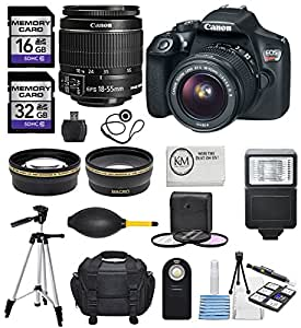 Canon Rebel T6 w/ 18-55mm EF-S f/3.5-5.6 IS II Lens (20 items) + Full Photo Kit