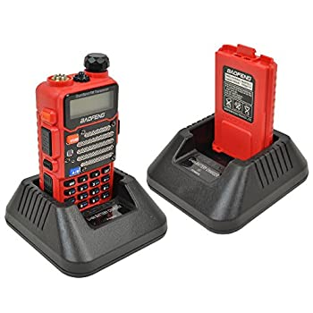 Baofeng Red Uv-5r V2+ (Usa Warranty) Dual-band 136-174400-480 Mhz Fm Ham Two-way Radio, Improved Stronger Case, Enhanced Features 3