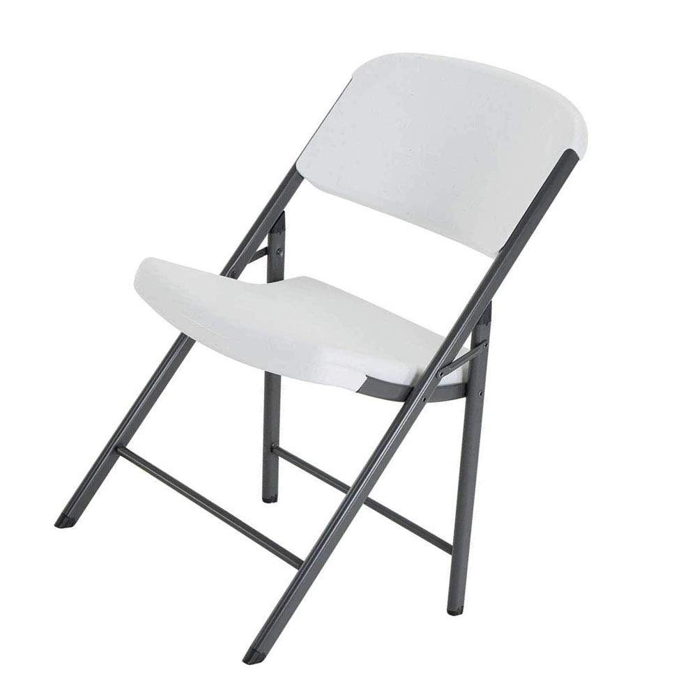 Metal Folding Chair Durable Steel Frame & Lightweight Polyethylene Resin Plastic Seat for Home or Commercial Indoor - Outdoor Porch Patio Backyard Excursions Fishing & eBook by jnwd.