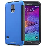 Fosmon HYBO-SNAP Durable Full Body Protection Hybrid Case with Built-In Screen Protector for Samsung Galaxy Note 4 (Blue)