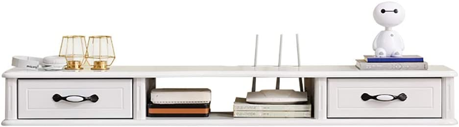 Estante flotante Madera Maciza montada en la Pared Carcasa del televisor pequeño apartamento Sencillo Colgante Moderna Sala de Estar Armario Colgante habitación Estrecha Mini-Set-Top Caja del Estante: Amazon.es: Hogar