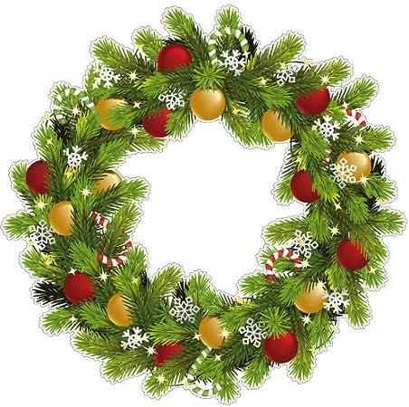 Sticker Couronne Noël Traditionnelle à Coller sur Une Fenêtre ou Mur -  40x40 cm: Amazon.fr: Cuisine & Maison