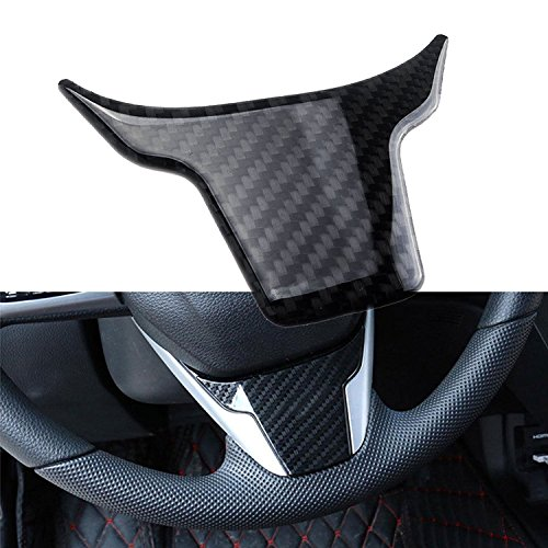(Real Carbon Fiber Steering Wheel Cover Panel Frame Trim for Honda Civic 2016 and up)