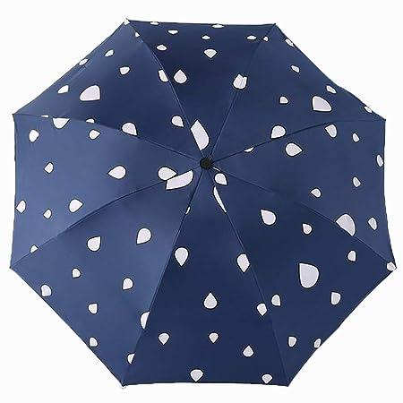 Lirener Paraguas de Cambio de Color(Gota de Agua), Paraguas ...