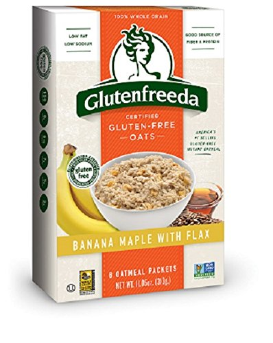 Glutenfreeda's Instant Oatmeal, Banana Maple with Flax, 8-Count Packets (Pack of 8) (Packaging may vary)