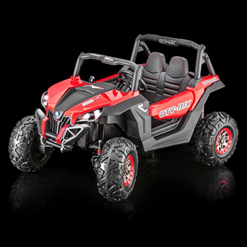 Four Seater - SPORTrax UTV Screemer, 2 SEATER, 4WD Kid's Ride On Vehicle, Battery Powered, Remote Control w/FREE MP3 Player - Red