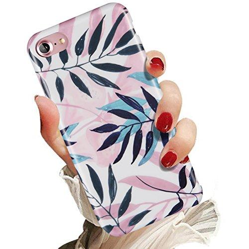 iPhone 7 Case, iPhone 8 Case,for Women Girls,LUMARKE Clear Bumper Matte TPU Soft Rubber Silicone Cover Cute Phone Case for iPhone 7 / iPhone 8
