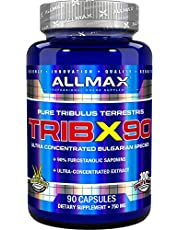 AllMax Nutrition TribX 90 Ultra-Concentrated Bulgarian Tribulus, 90% Furostanolic Saponins, 750 mg, 90 Capsules