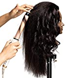 "African American Mannequin Head 20""-22"" Real Hair"