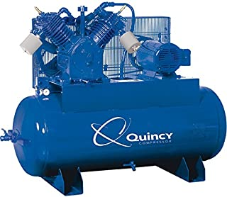 product image for Quincy QT-15 Splash Lubricated Air Compressor with MAX Package - 15 HP, 230 Volt, 3 Phase, 120 Gallon Horizontal, Model Number 2153DS12HCA23M
